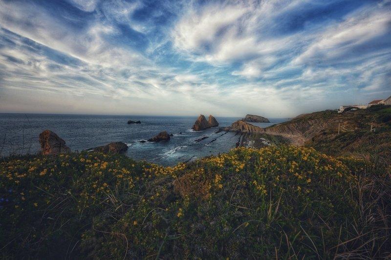 испания, бискайское побережье, бискайский залив, атлантика, океан, скалы Испанские зарисовкиphoto preview