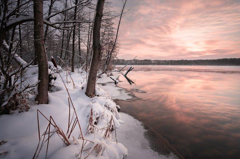 шатура, зима, озеро, рассвет, снег Зима на Белом озереphoto preview