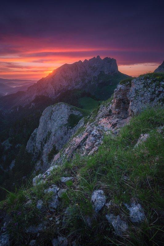 #кавказ, #поход, #активныйотдых, #краснодар, #тхачи, #закат, #горы Западный Кавказphoto preview
