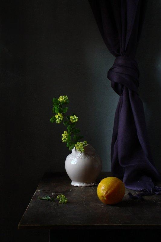 натюрморт, лимон, барбарис Лимонphoto preview