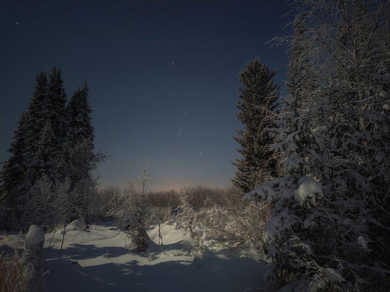 печора,ночь,звезды Ночной северphoto preview