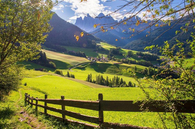 доломиты,santa maddalena Альпийская пасторальphoto preview