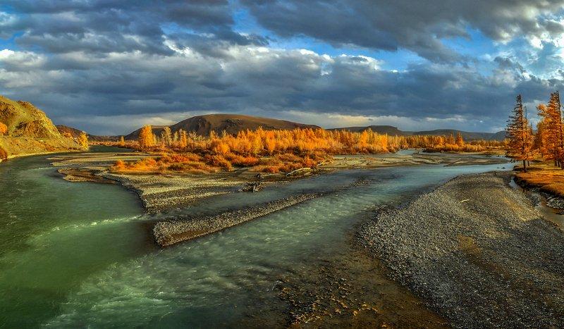 горный алтай,осень,река чуя,река чаган-узун,слияние Чуя и Чаган-Узун - встреча...photo preview