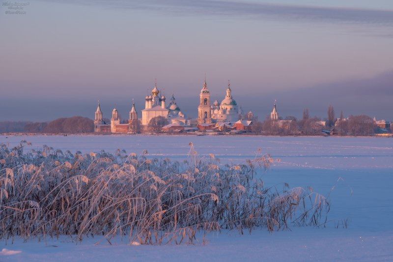 неро, ярославская область, ростов великий, спасо-яковлевский монастырь, зима, русская зима, рассвет, мороз \