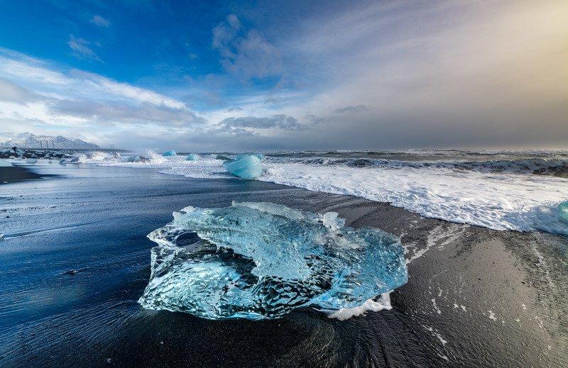 исландия, бриллиантовый пляж photo preview