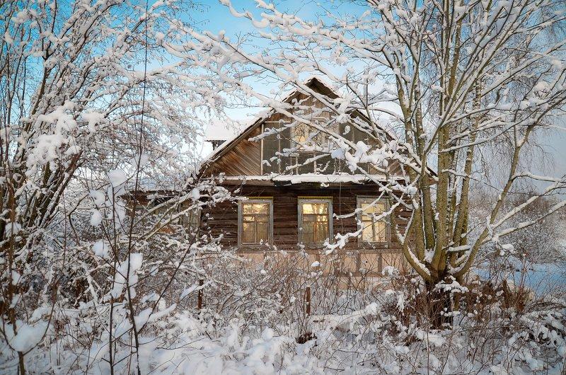 зима, мороз, снег, деревня, красота, тишина Домик в деревне.photo preview
