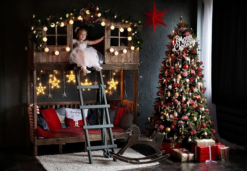 студия, помолейко, девочка, новогоднее, студия, фотостудия Новогодняя сказкаphoto preview