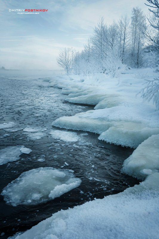 пейзаж,природа,зима,река,волга,дубна, Из-за острова на стрежень...photo preview