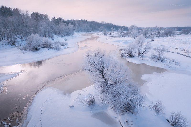 зима, утро, рассвет, пейзаж, угра Немного зимы...photo preview