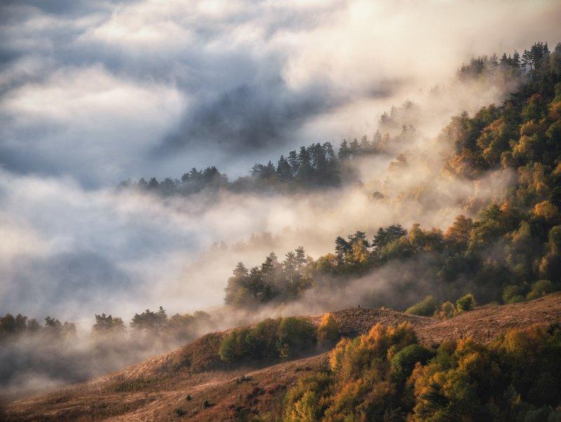 ингушетия, кавказ Волшебные туманы Ингушетии.photo preview