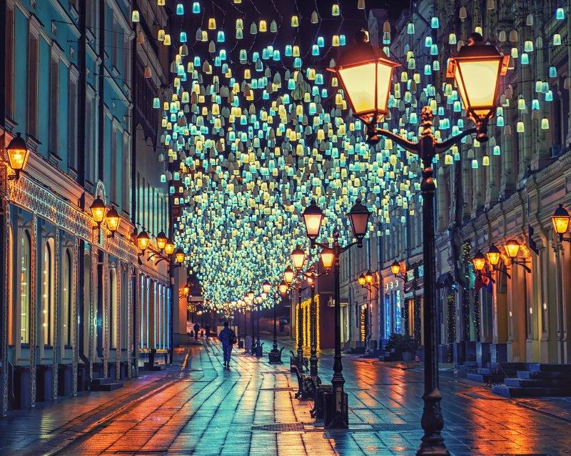 Ночь в городе фото превью