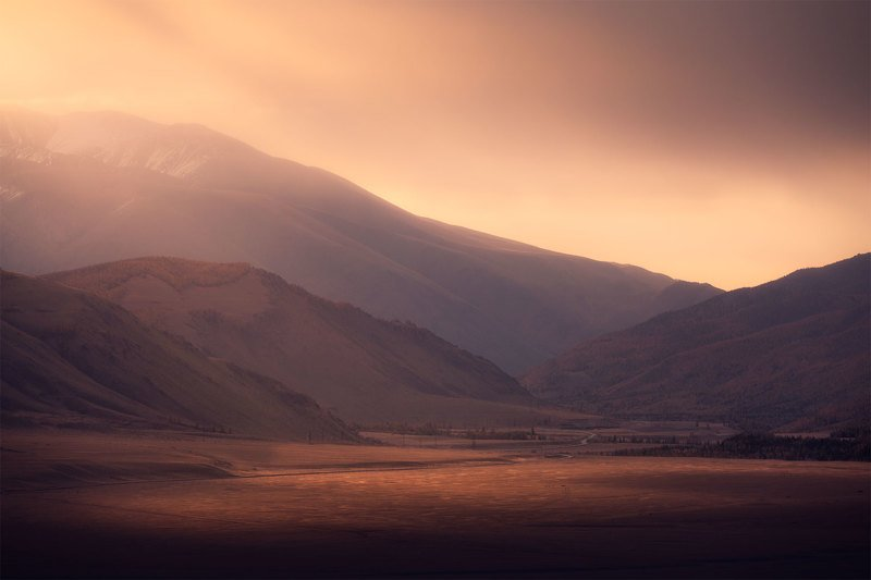 Облачно в Курайской степи. Алтайphoto preview
