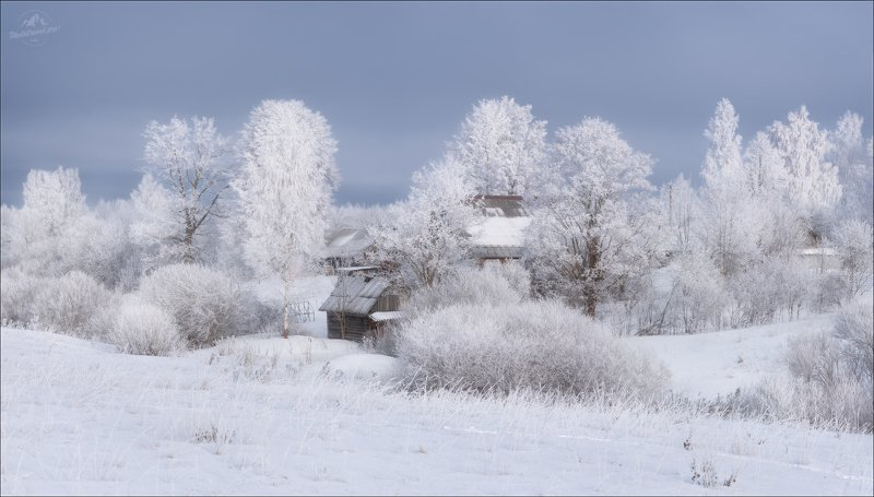 псков, изборск, зима, россия Просто зима ..photo preview