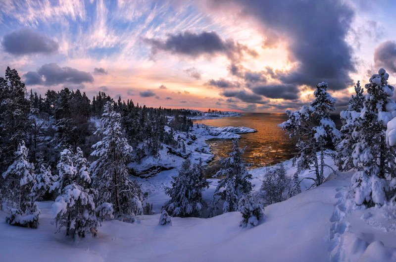 Зимний закат...photo preview