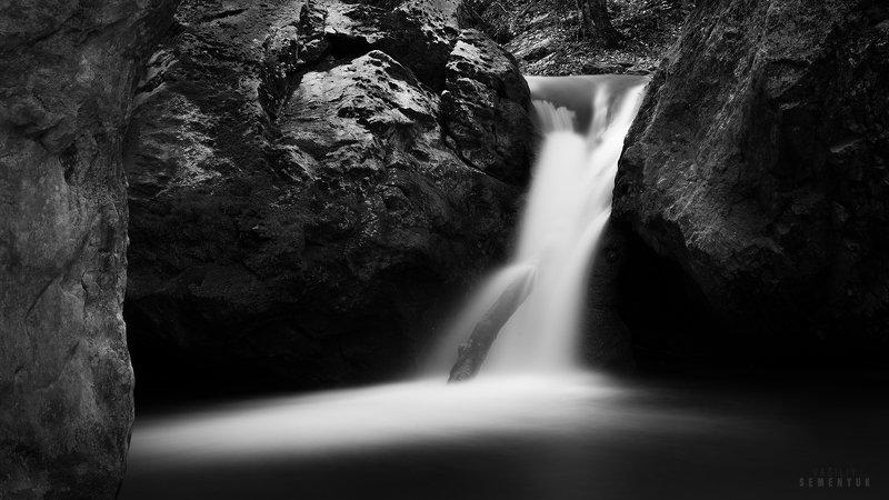 крым, большой каньон, тисовый, тисовый водопад, длинная выдержка, ч/б, вода, waterfall, b/w, long exposure, yaw tree waterfall, crimea. Тисовый...photo preview