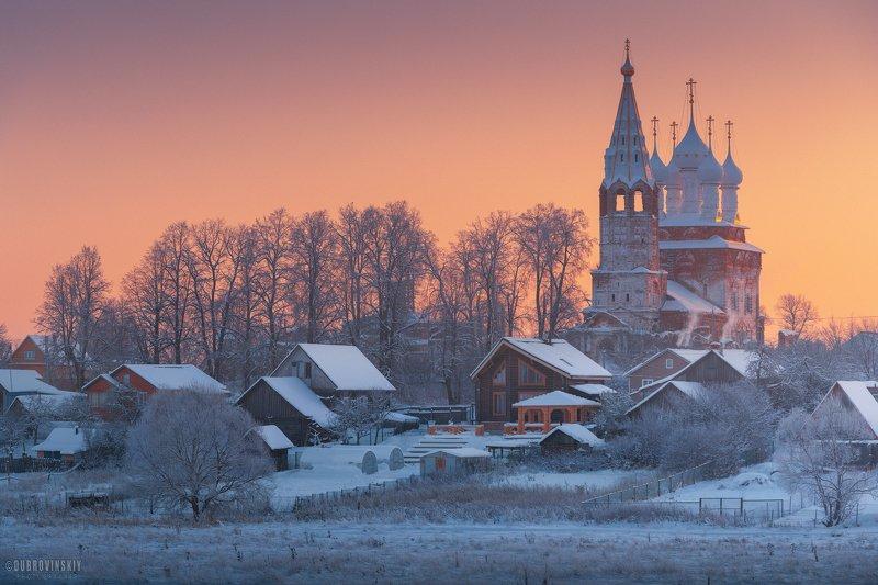 дунилово, ивановская область, мороз, храм, село, зима Дуниловоphoto preview