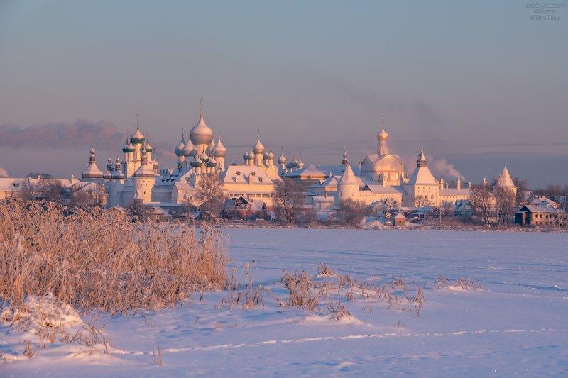 неро, ярославская область, ростов великий, ростовский кремль, зима, русская зима, рассвет, мороз \