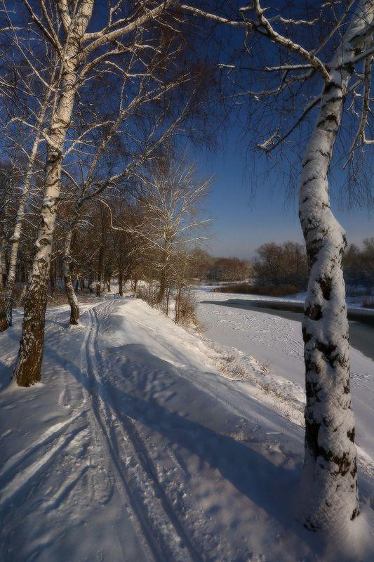 зима январь мороз снег река ***photo preview