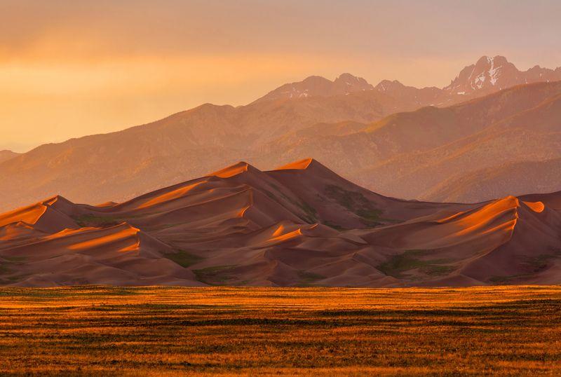 пейзаж, колорадо, дюны, nationalpark, colorado, usa, landscape, dunes, sunset Закат в великих дюнахphoto preview