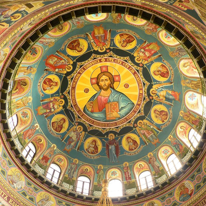 храм, роспись, купол Куполphoto preview