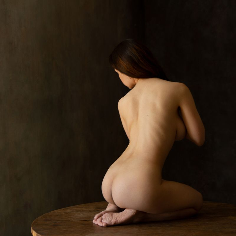 fine, art, nudes Seated nudephoto preview