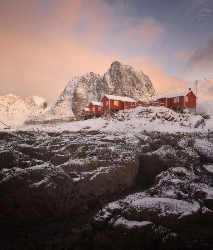 пейзаж, природа, море, норвегия, лофотены, hamnoy Hamnoyphoto preview