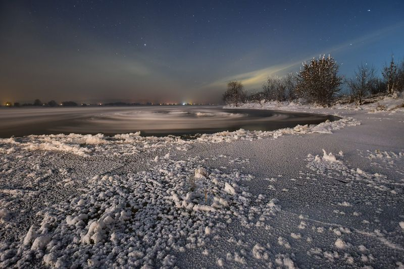 landscape  snow ice night Winterphoto preview