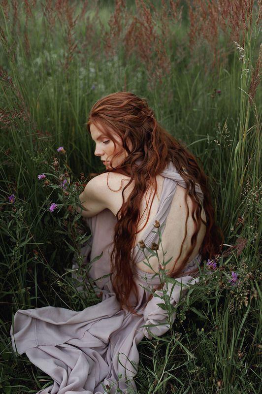 рыжая, девушка, портрет На пороге осениphoto preview