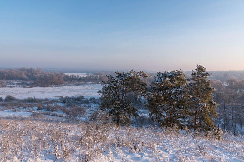 белгородская область, село архангельское, рассвет, зима, снег ***photo preview