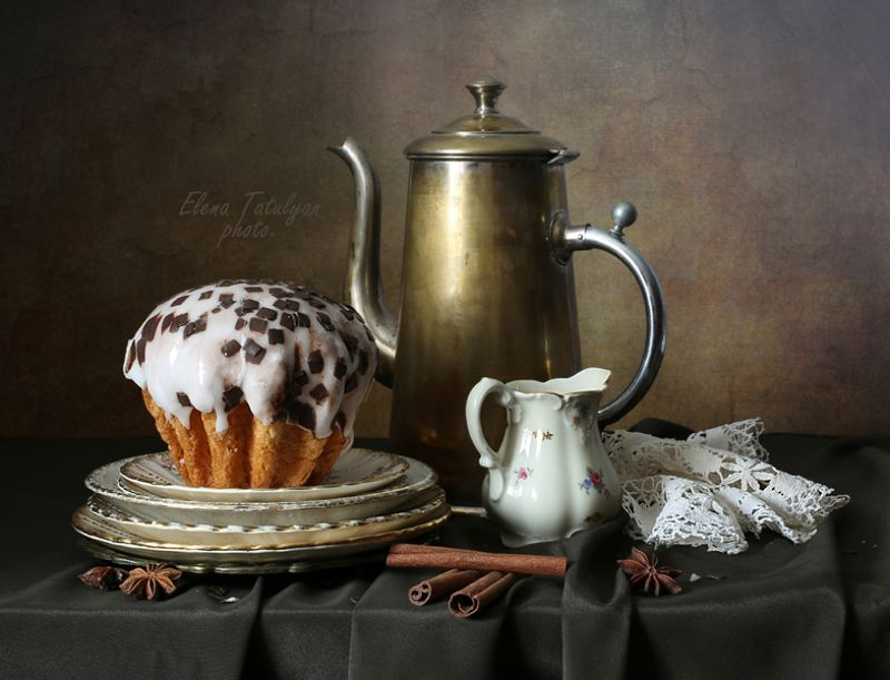кекс, кофейник Кекс к кофе фото превью