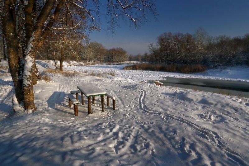 зима, январь, река, мороз, снег ***photo preview