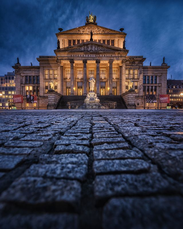 Berlin, Blue Hour, Architecture, Mood, Skies,  Berlinphoto preview