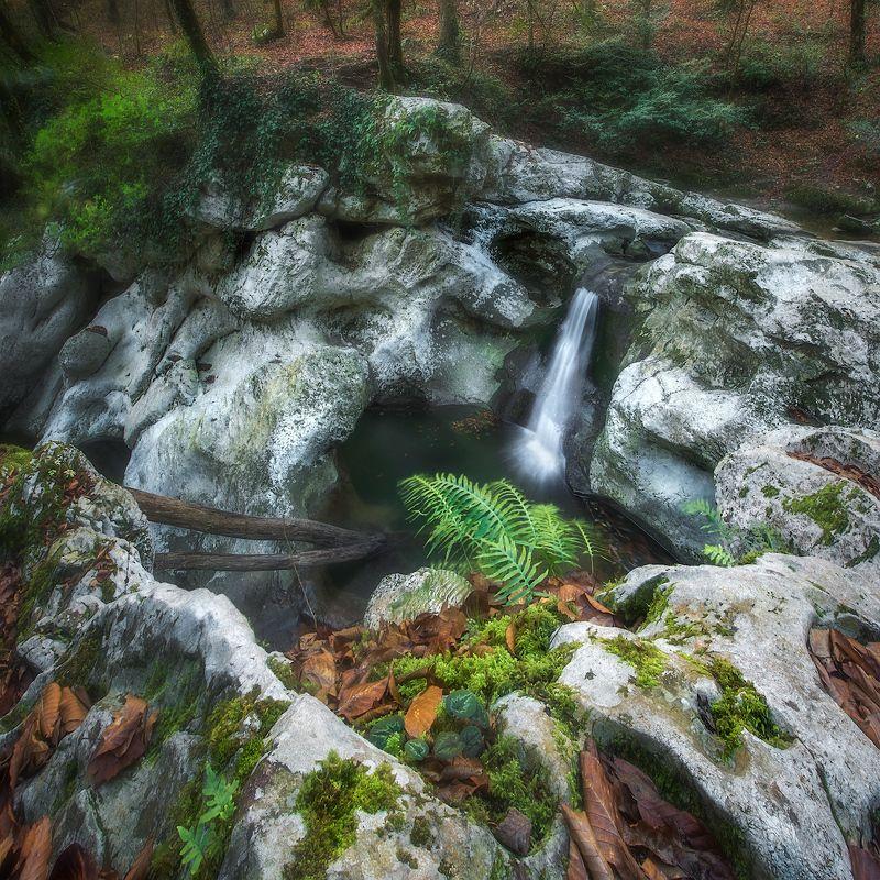агура, водопад, лес ***photo preview