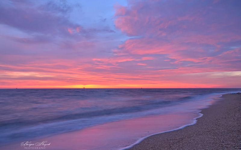 арабатская стрелка, море, азов, рассвет, январь, зима, небо, облака За полчаса до рассвета фото превью