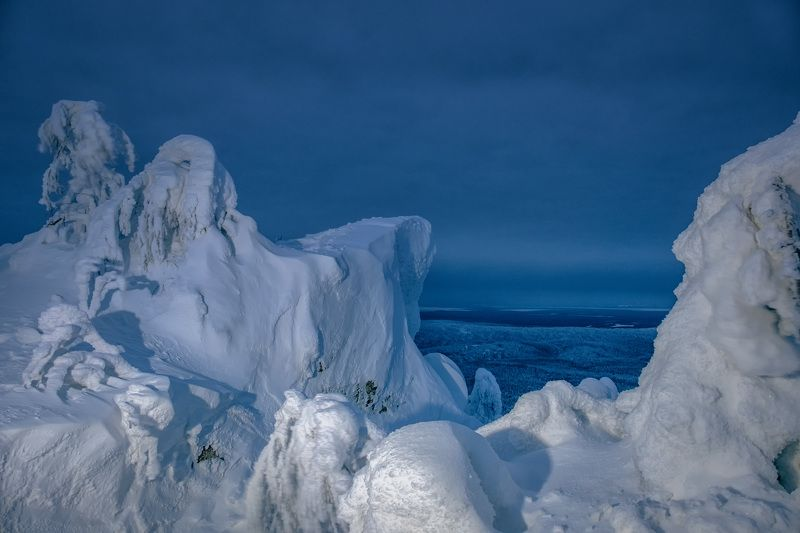 полюд, гора, скалы, тайга, зима, утро, холод, мороз Холодphoto preview