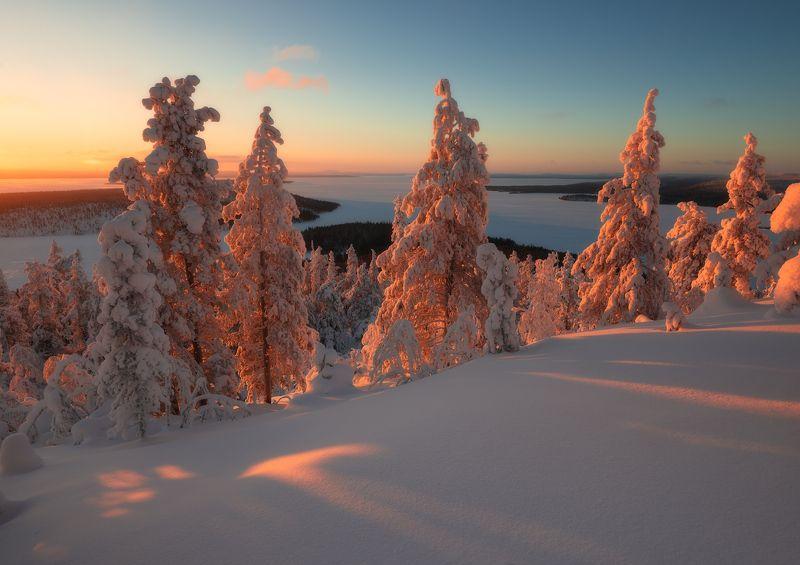 пейзаж,закат,россия,кольский,север,свет Имандра на закатеphoto preview