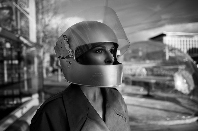 helmet,mono,portrait, Spherephoto preview