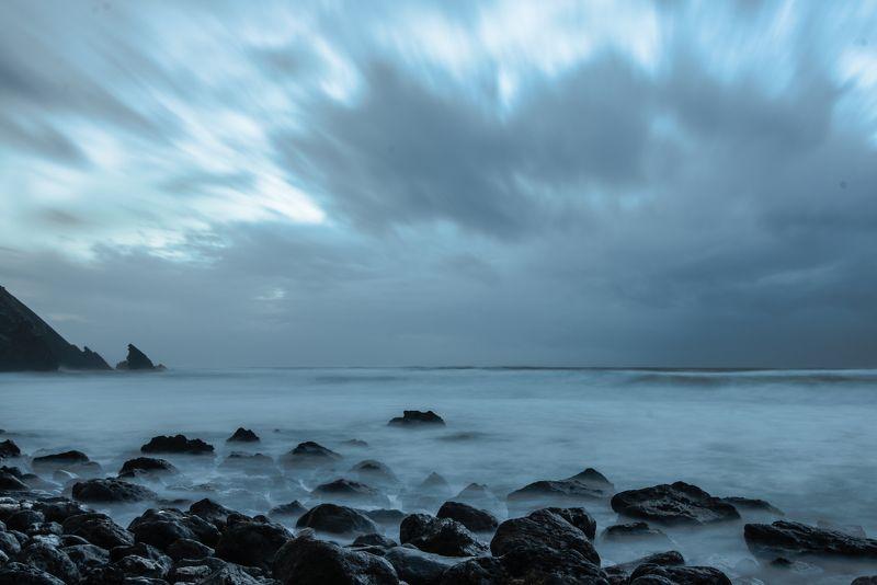 португалия, камни, длинная выдержка, атлантический океан, океан Атлантикаphoto preview
