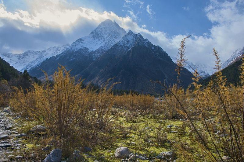 кабардино-балкария, северный кавказ, чегем, тихтенген, Утро Тихтенгенаphoto preview