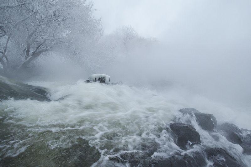 утро, зима, озеро горячка, косая гора Песнь воды и холодаphoto preview