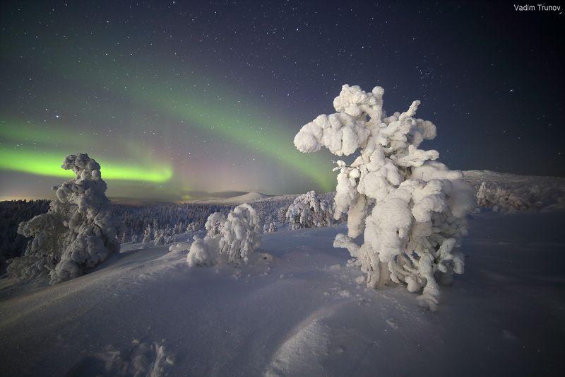 кольский, север, заполярье Волшебной ночьюphoto preview