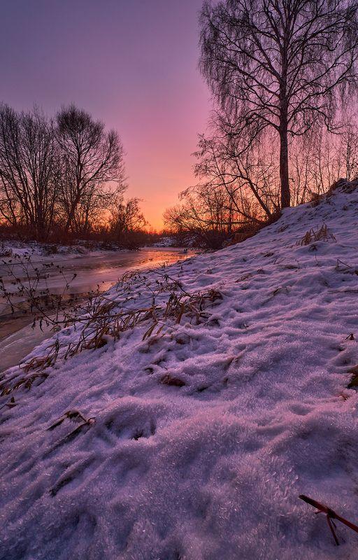 зима,река,моороз,закат,перья,иней,берег,природа,подмосковье,сумерки Морозные сумерки на берегу рекиphoto preview