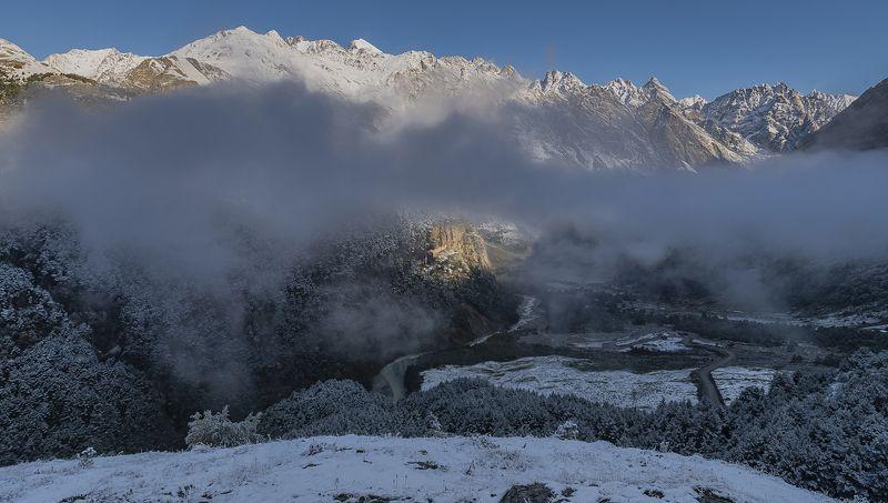 уштулу. кбр. Утро первого снега в урочище Уштулу.photo preview