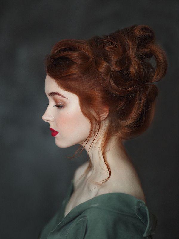 нежная, огненная красавица,прическа Аннаphoto preview