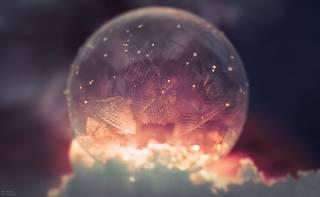 Подборка замороженных мыльных пузырей