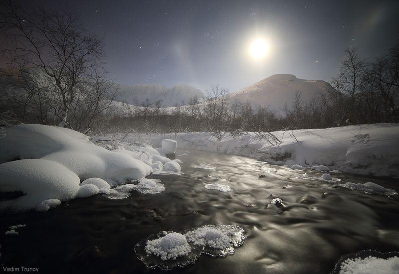 кольский, север, заполярье, хибины В полночьphoto preview
