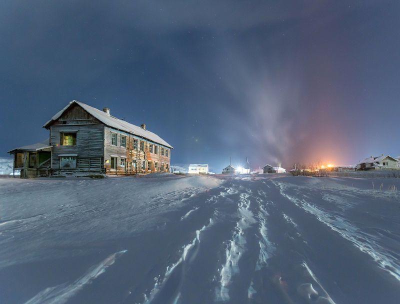 териберка, ночь, зима, мороз, мурманск, русский север Забытый северphoto preview