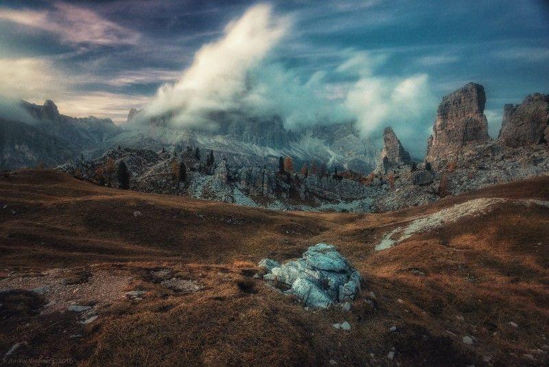 доломиты, альпы, италия, доломитовые альпы, горы, осень Доломитыphoto preview