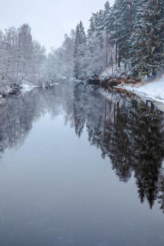 зима, река, день, снег, на Оредеж #2photo preview