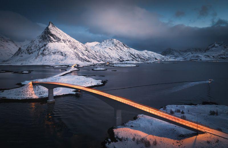 лофотены, пейзаж, закат, fridvang Вечерние мосты Fredvang...photo preview
